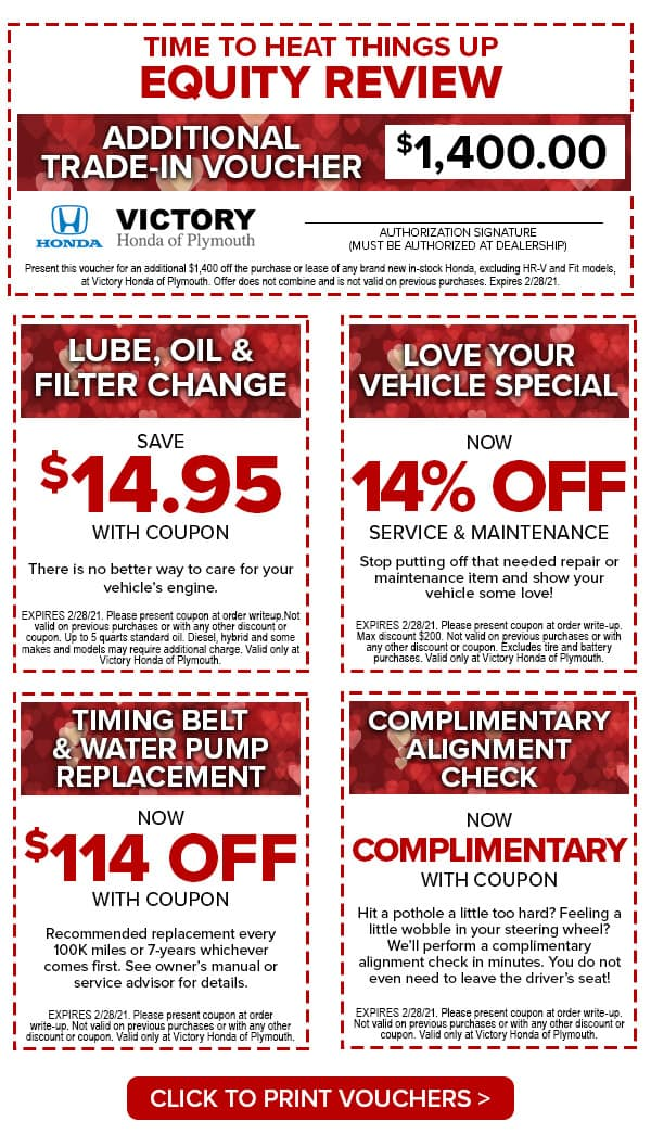 Victory Honda of Plymouth Valentines Shopping Voucher