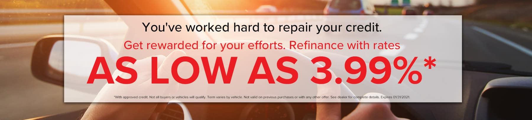 Refinance with rates as low as 3.99%