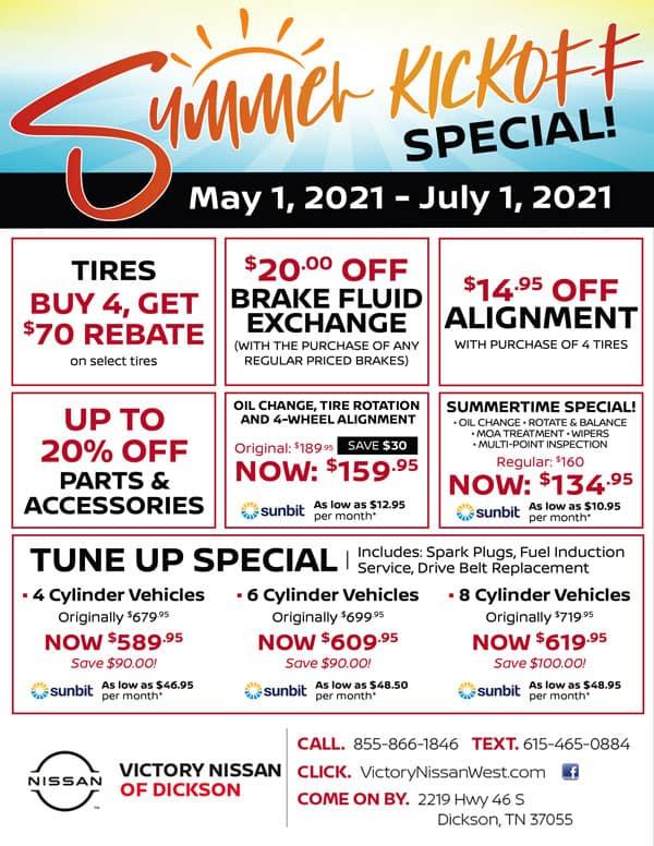 Service Summer Kickoff Special