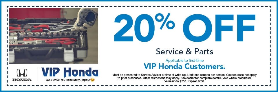 20% off Service and Parts