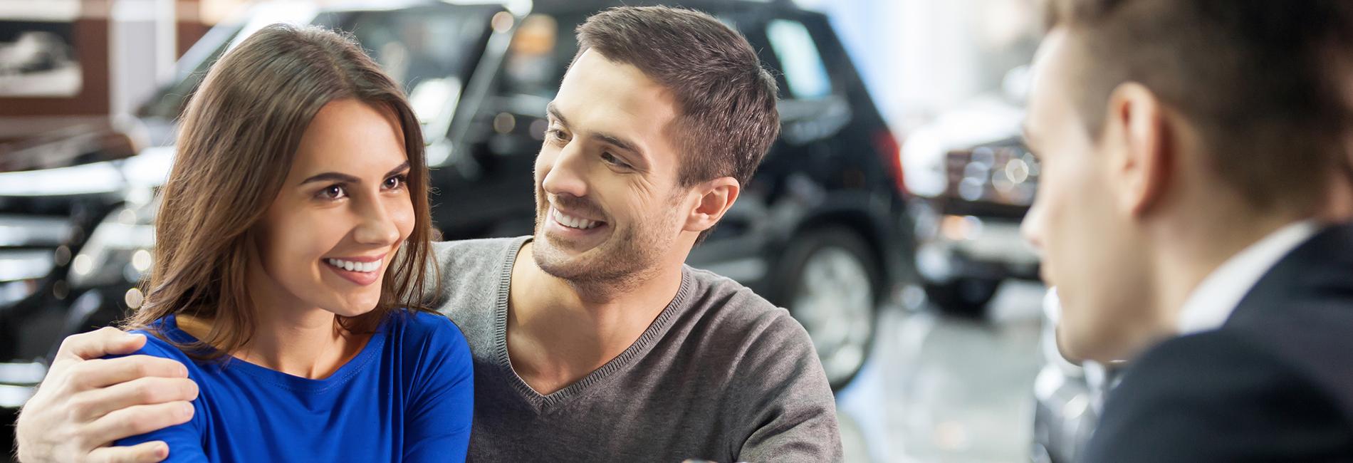 Couple financing a car