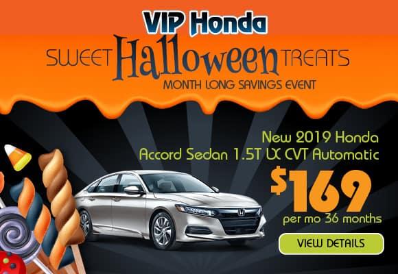 2019 Accord Sedan 1.5T LX CVT 36 month lease with 10k miles/yr