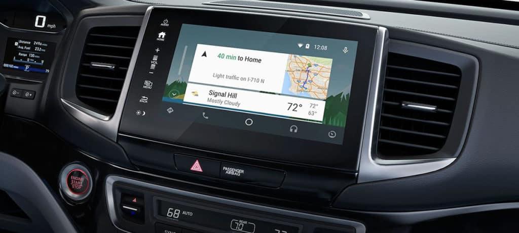 Android Auto Interface on Honda Ridgeline