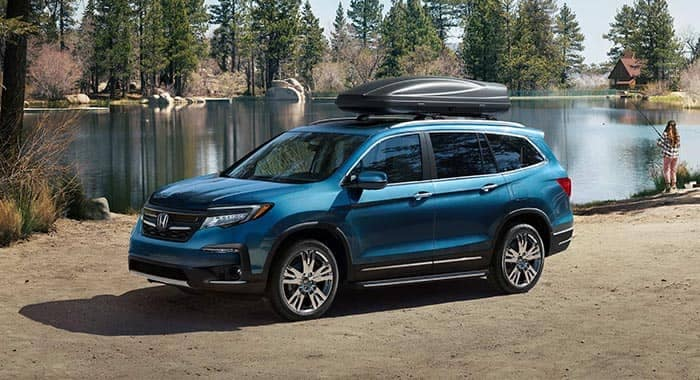 2019 Honda Pilot Parked at Campground