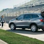 2019 Honda Pilot Parked on a Football Field