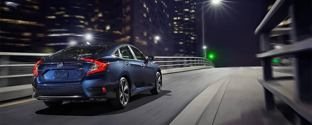 2019 Honda Civic EX or Above Driving on Exit Highway Ramp