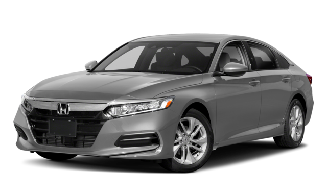 Silver 2018 Honda Accord Side View