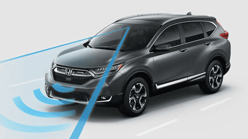 Honda CR-V using sensors forward