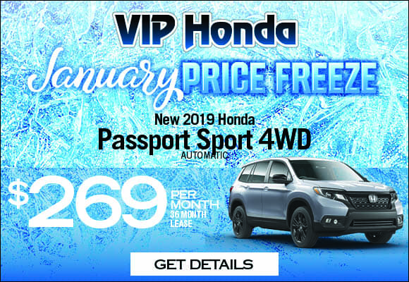 2019 Passport Sport 4WD Auto 36 month lease with 10k miles/yr