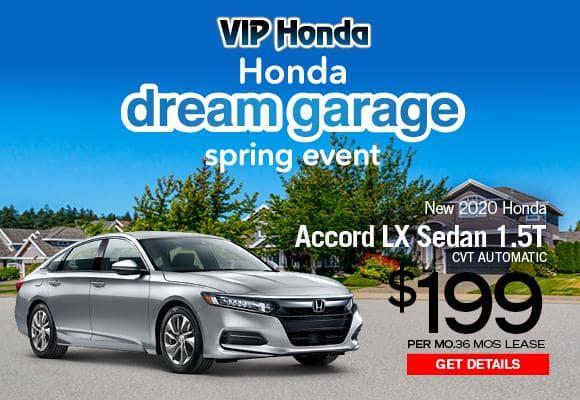 2020  Accord Sedan 1.5T LX CVT  36month lease with 10k miles/yr
