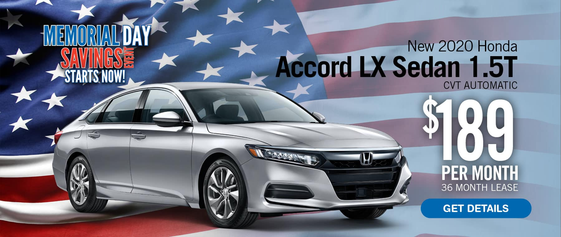 Lease an Accord for $189