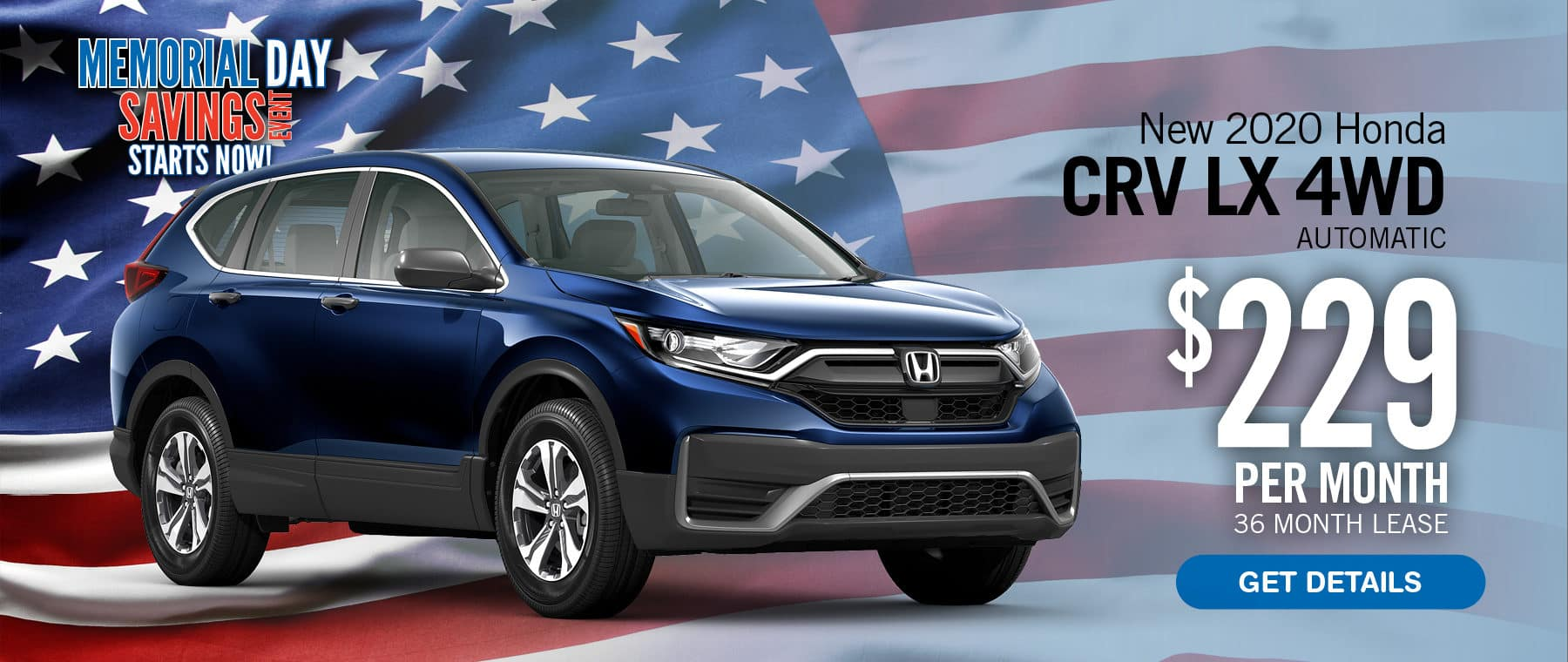 Lease a CR-V $229 per month