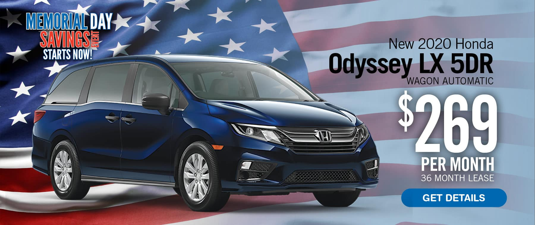 Lease an Odyssey for $269