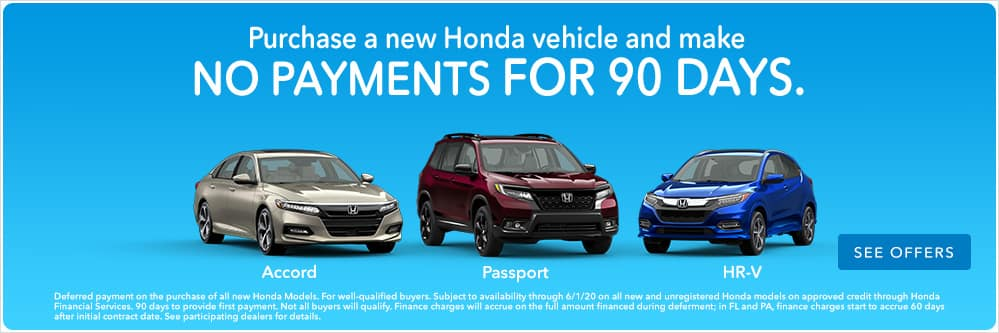 90 day deferred payment through honda financial services