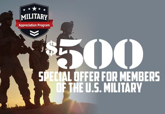 $500 Military Appreciation Offer
