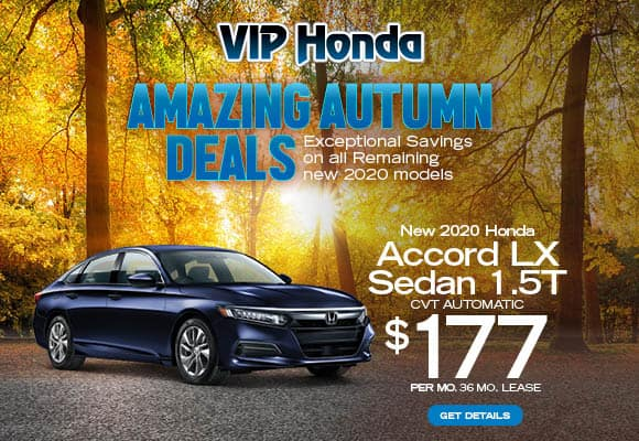 NEW 2020 Honda Accord Sedan 1.5T LX Automatic 36 month lease with 10k miles/yr