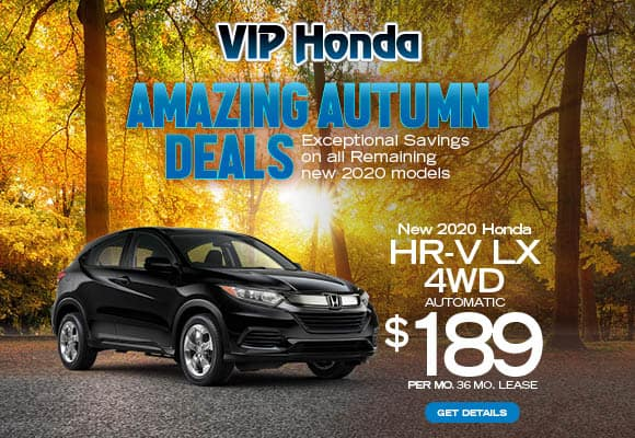2020 HR-V LX 4WD Auto 36 month lease with 10k miles/yr