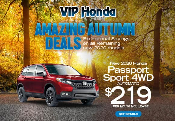 New 2020 Honda Passport Sport AWD Auto 36mo 10k/yr