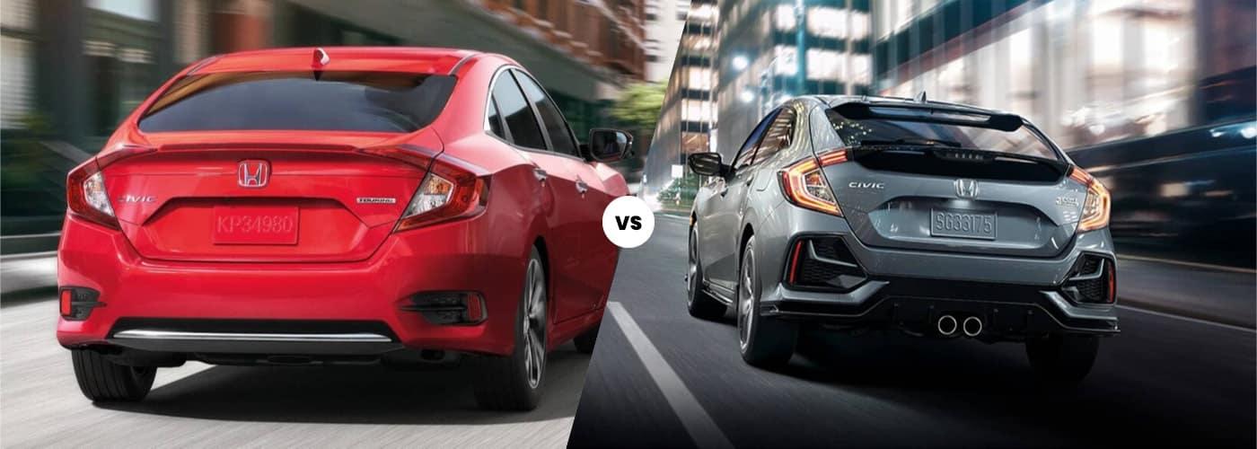 2020 Honda Civic Sedan vs Hatchback