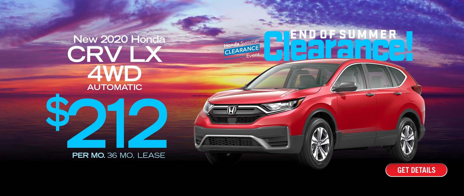 Lease a CR-V for $212