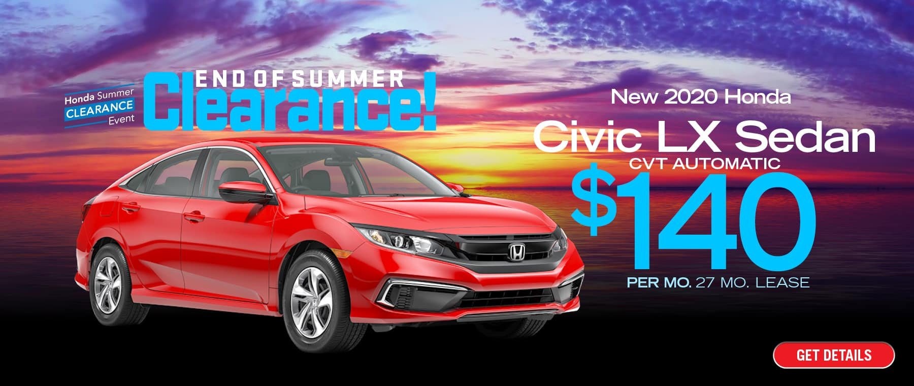 Lease a Civic for $140