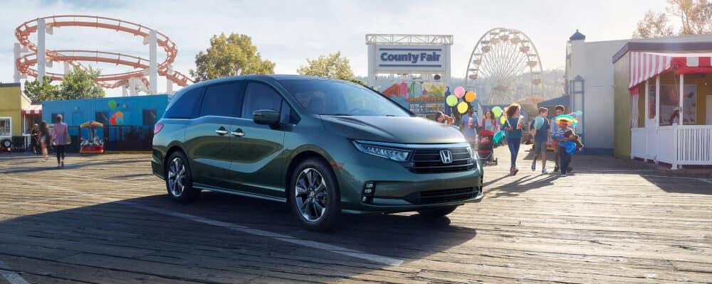 2021 Honda Odyssey at a carnival