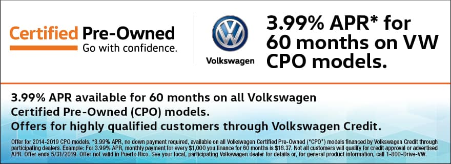 Certified Pre-Owned 3.99% APR Financing for 60 Months