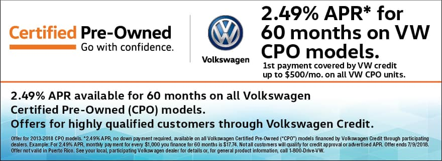 Certified Pre-Owned 2.49% APR Financing for 60 Months