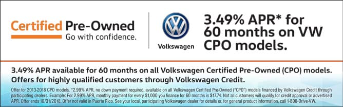 Certified Pre-Owned 2.99% APR Financing for 60 Months