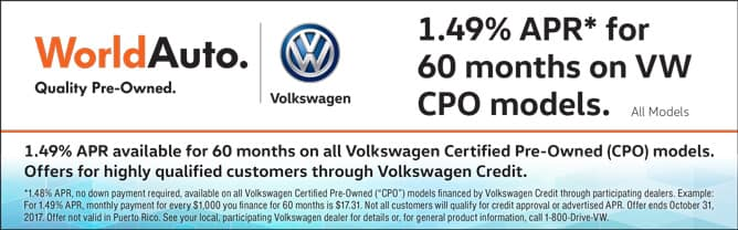 Certified Pre-Owned 1.49% APR Financing for 60 Months