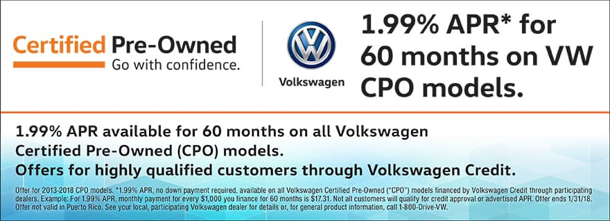 Certified Pre-Owned 1.99% APR Financing for 60 Months