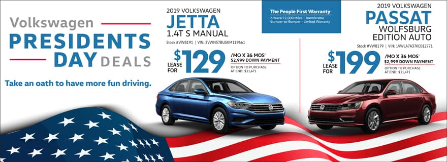 Jetta & Passat Lease Specials