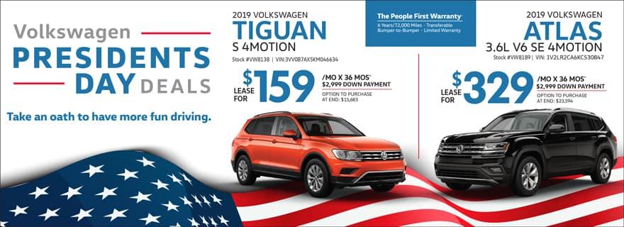 Tiguan & Atlas Lease Specials