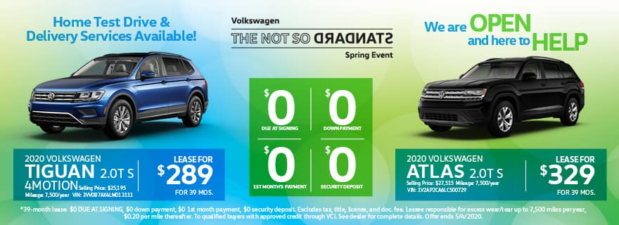 Tiguan & Atlas Lease Specials