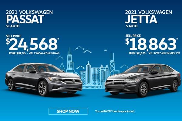 Jetta & Passat Purchase Specials