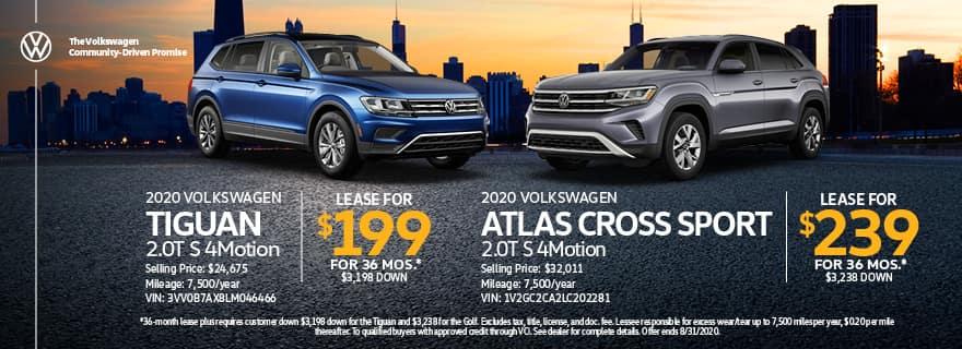 Tiguan & Atlas Cross Sport Lease Specials