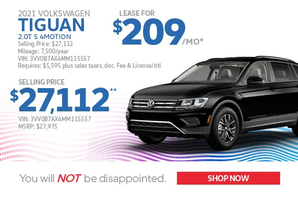 2021 Tiguan Lease & Purchase Specials