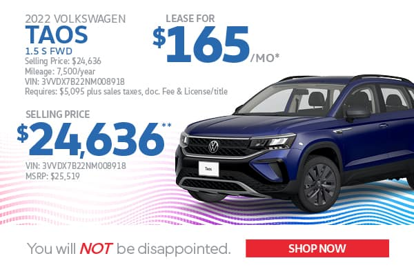 2022 Taos Lease & Purchase Specials