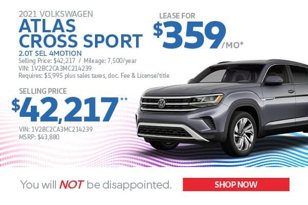 2021 Atlas Cross Sport Lease & Purchase Specials