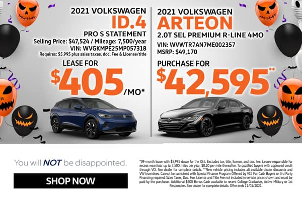 2021ID.4 Lease & 2021 Arteon Purchase Specials