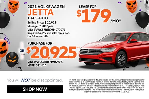 2021 Jetta Lease & Purchase Specials