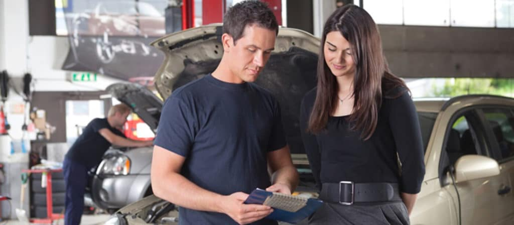 mechanic with driver