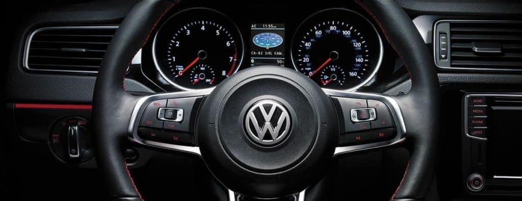 2018 Volkswagen Jetta steering wheel detail banner