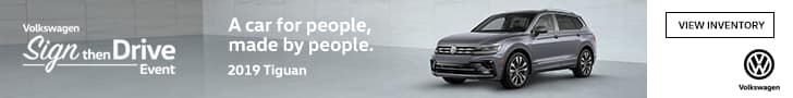 tiguan sign then drive event