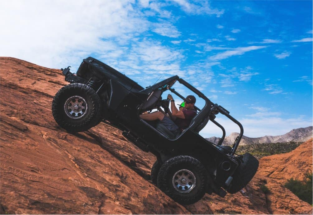 Lifted Jeep Climbing