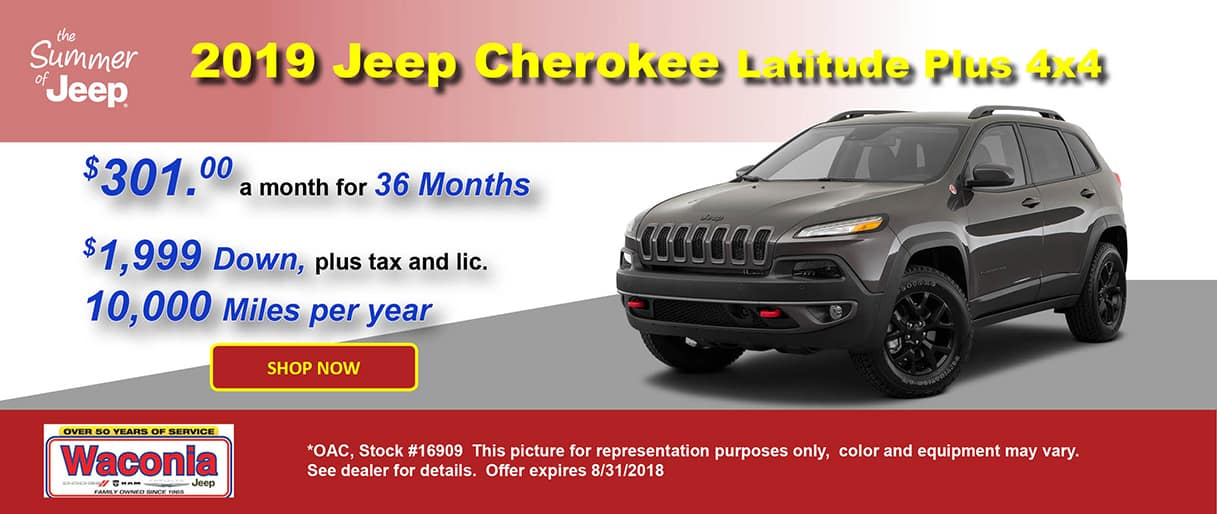 2019 Cherokee Latitude Plus
