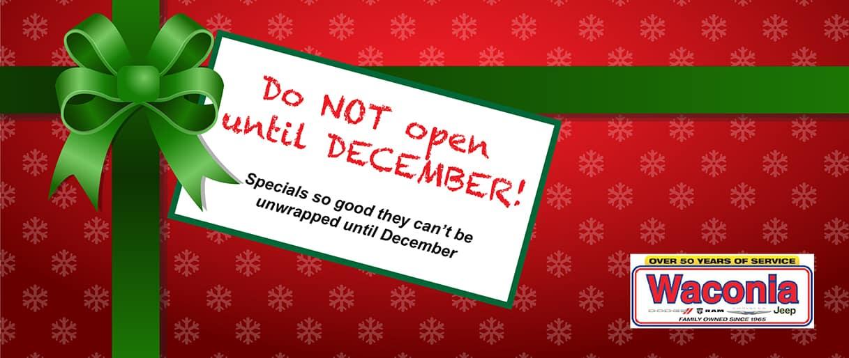 December Incentives