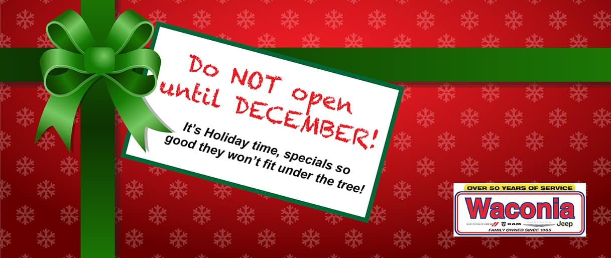 Do Not open Until December