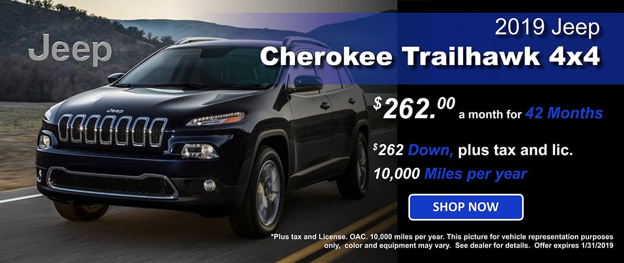 2019 Jeep Cherokee Trailhawk Lease