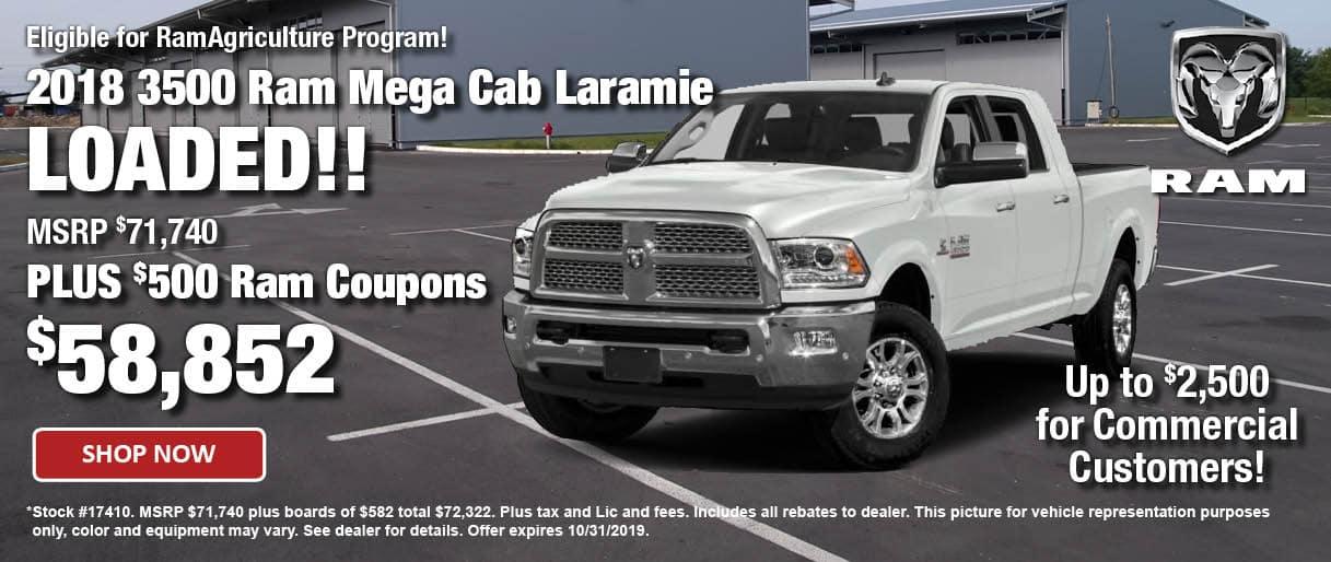 2018 Ram 3500 Mega Cab Laramie